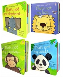 Wildlife Animals Collection Usborne Touchy-Feely 4 Books Set