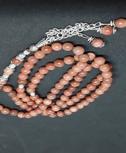 Authentic Brown Jasper (Precious Stone) Prayer Beads/Tasbih in Counts of 99