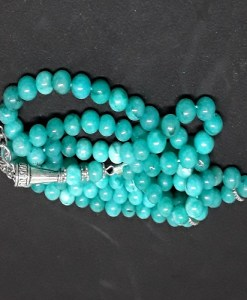 Authentic Green Jasper (Precious Stone) Prayer Beads/Tasbih in Counts of 99