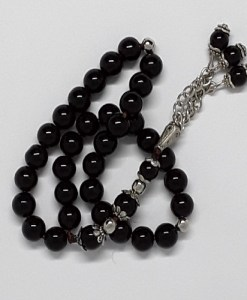 Authentic Black Onyx (Precious Stone) Prayer Beads/Tasbih in Counts of 33
