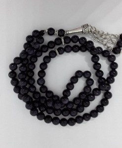 Authentic Black Onyx (Precious Stone) Prayer Beads/Tasbih in Counts of 99