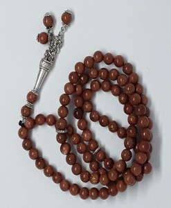 Authentic Sun Stone (Precious Stone) Prayer Beads/Tasbih in Counts of 99