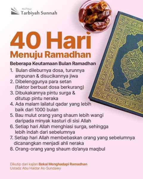40 Hari Menuju Ramadhan – Poster Reminder