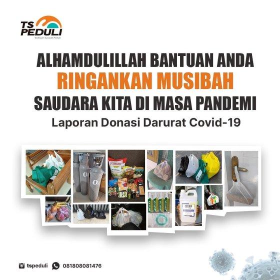 Laporan Donasi Darurat COVID-19 TS Peduli