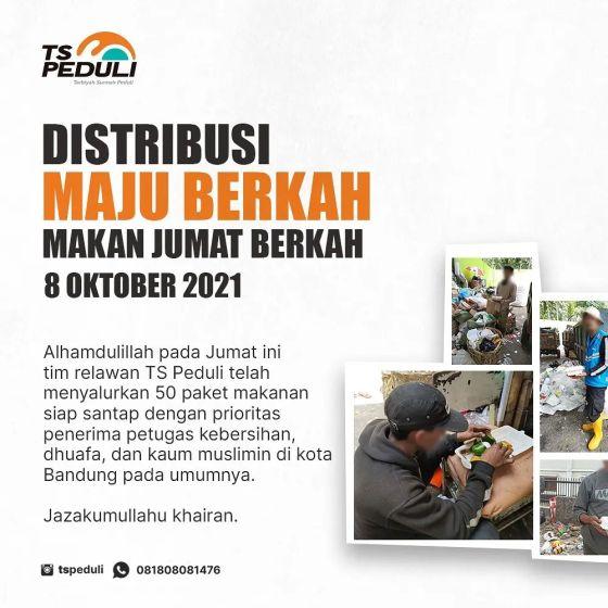 Distribusi Program Maju Berkah (Makan Jumat Berkah) 6 Oktober 2021 — 2