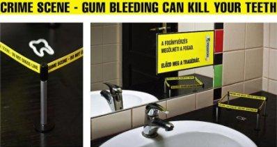 cena do crime - sangramento de gengiva pode matar seus dentes