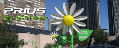 prius solar wifi flowers