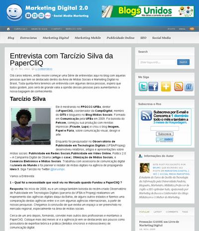 Entrevista com Tarcízio Silva da PaperCliQ - Marketing Digital - SEO - Social Media Marketing