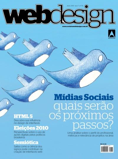 revista web design - mídias sociais 76