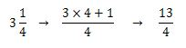 Conversión de una fracción mixta a impropia