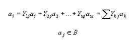 vectores de b se puede escribir asi