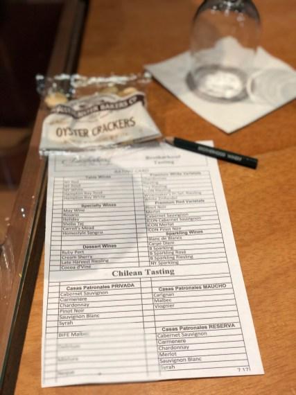 Full tasting menu!