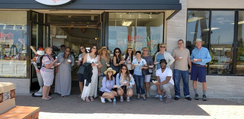 Outside of Lloyd's of Avalon (photo courtesy of Catalina Food Tours - Facebook)