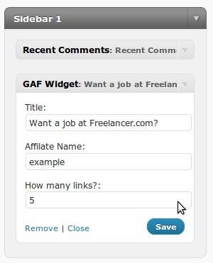 Freelancer.com Widget