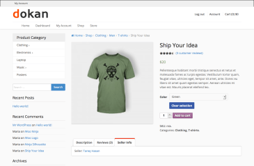 Dokan Single Product View page