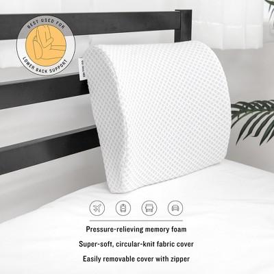 sensorpedic conforming memory foam lumbar back support pillow