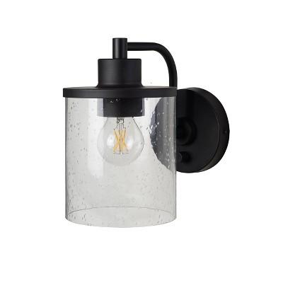 hudson industrial wall lights includes bulb black threshold