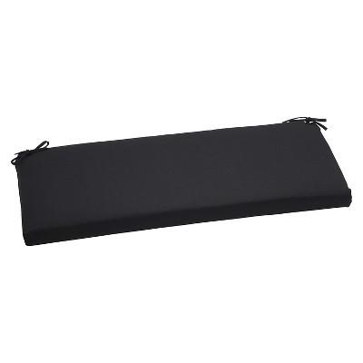 sunbrella canvas outdoor bench cushion black