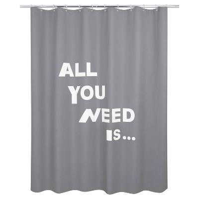 glow in the dark love peva shower curtain dark gray allure home creations