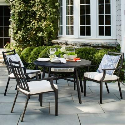 fairmont 5pc patio dining set linen threshold