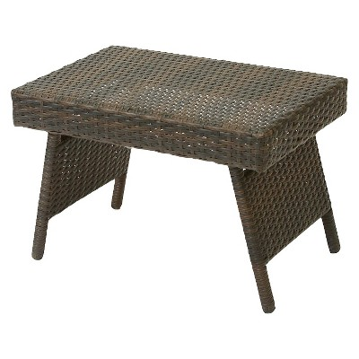 salem wicker adjustable folding patio table brown christopher knight home
