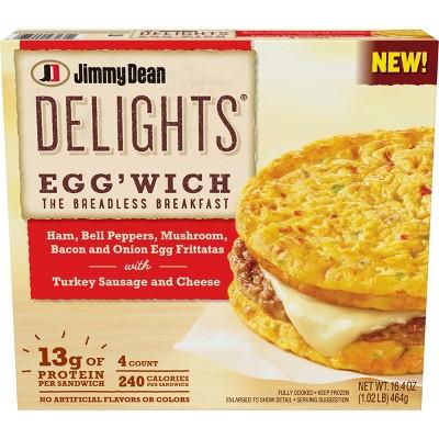 jimmy dean farmhouse frozen frittata sandwich 4ct
