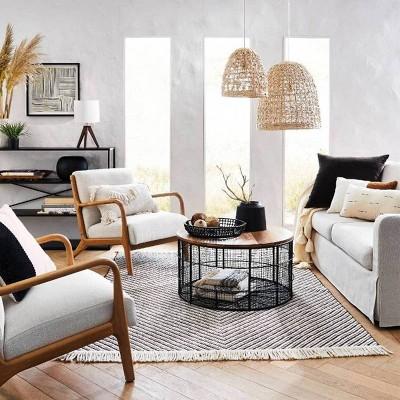 black natural living room furniture