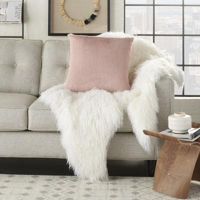blush fur pillow target