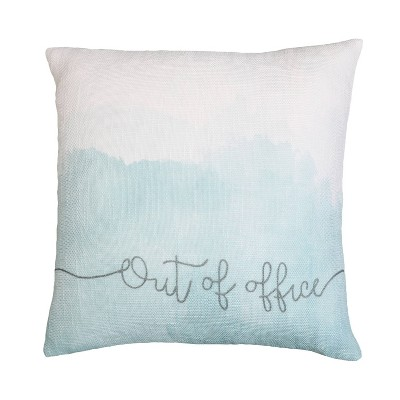 20 x20 oversize raelynn out of office faux linen square throw pillow blue decor therapy
