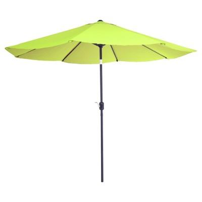 10 aluminum patio umbrella with auto tilt lime green pure garden
