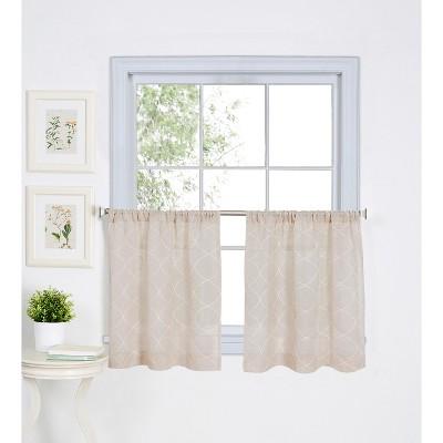 taylor rod pocket kitchen tier window curtain set of 2 30 x 36 linen elrene home fashions