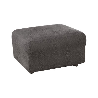 ultimate stretch leather ottoman slipcover sure fit
