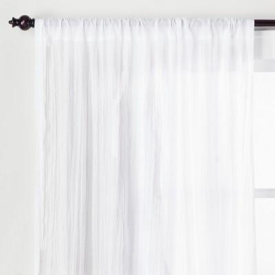 95 x42 crushed sheer curtain panel white opalhouse