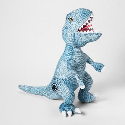 jurassic world t rex throw pillow blue