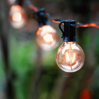 brightech jl 3bb7 x0uz waterproof 1 watt led outdoor 26 feet string edison patio globe lights with 12 light bulbs warm white