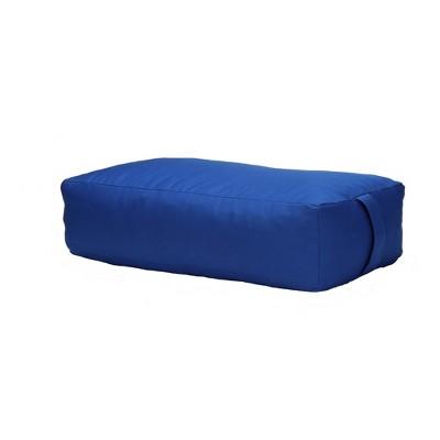 mind reader yoga rectangluar bolster cushion restorative meditation pillow blue