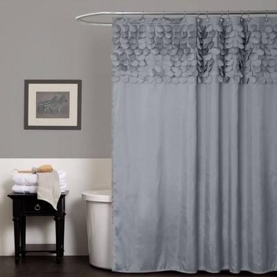 lillian shower curtain gray lush decor
