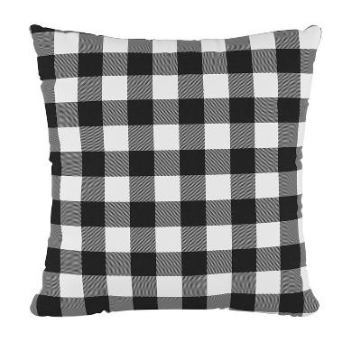 check square throw pillow black white skyline furniture