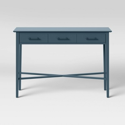 elloree console table with storage navy threshold