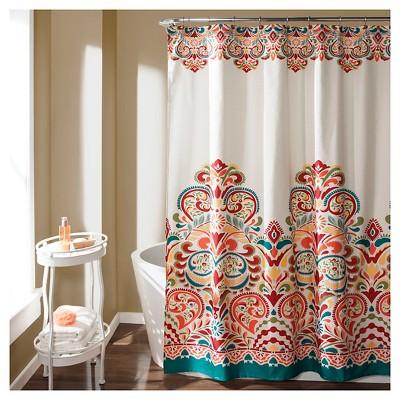 clara shower curtain turquoise lush decor