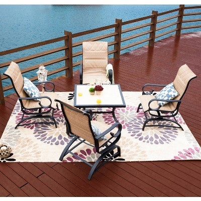 5pc sling back glider patio seating set patio festival