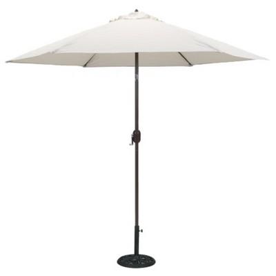 9 round aluminum patio umbrella antique white