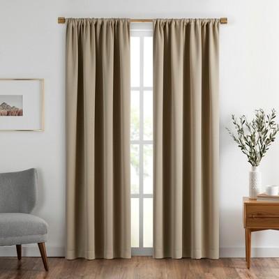 vanderbilt extra wide blackout window curtain panel 52 x 108 natural sunveil
