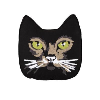 gallerie ii black cat shaped pillow