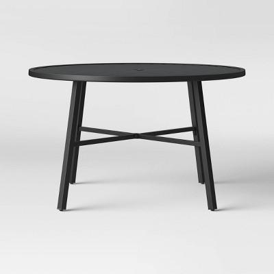 fairmont 4 person round patio dining table black threshold