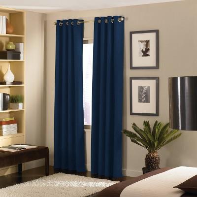 120 x50 cameron grommet top room darkening curtain panel navy curtainworks
