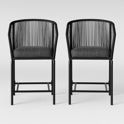 standish 2pk bar height patio chair charcoal project 62