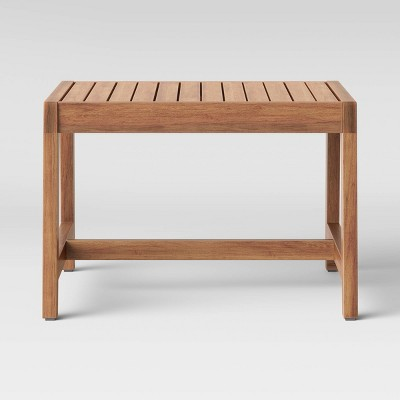 lena wood patio end table brown project 62