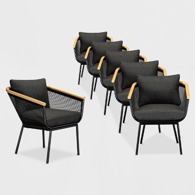 bangor 6pk patio dining chair black project 62