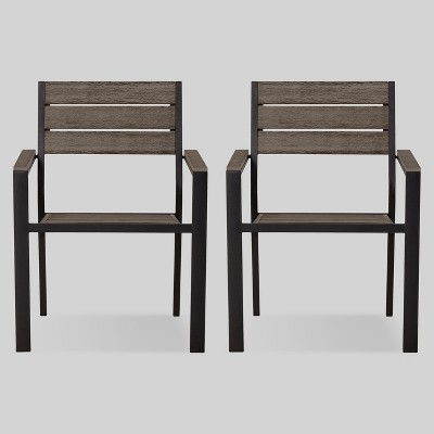 mantega 2pk faux wood patio dining chair project 62